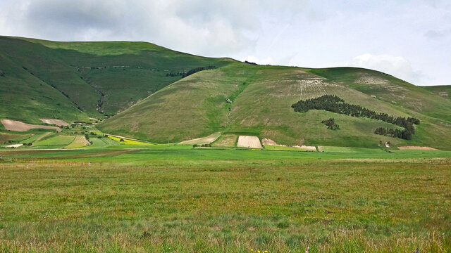 Italy hills of Norcia field