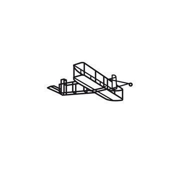 Wright Flyer vector line icon