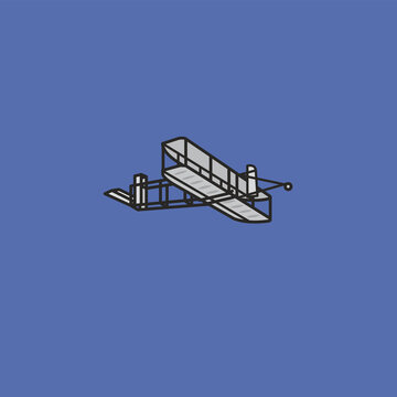 Wright Flyer vector illustration for Brothers Wright Day on December 17