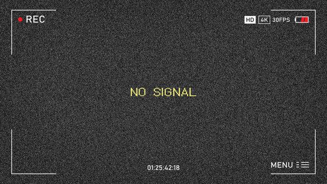 TV has no signal. no signal. noise background