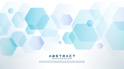 Fototapeta Abstract light blue purple and white gradient hexagon pattern element background. Overlapping geometry design. Modern simple style hexagon graphic concept. Vector illustration obraz