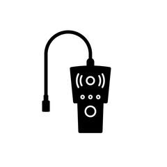 Obraz LPG Gas leak detector silhouette icon. Clipart image isolated on white background - fototapety do salonu