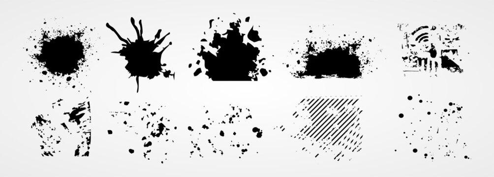 brush stroke grunge collection
