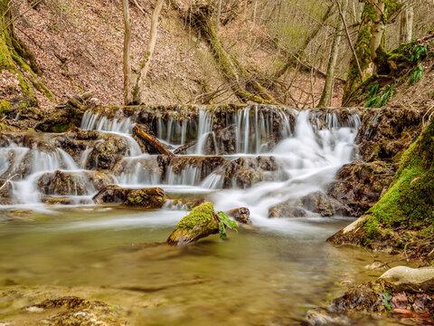 Wasserfall bei Bad Urach, Schwäbische Alb, Baden-Württemberg