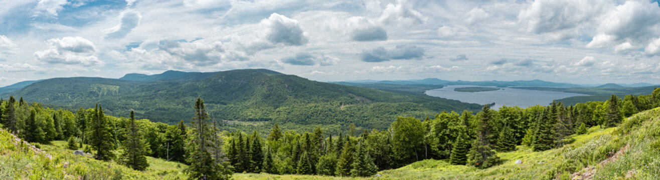 Panorama of Maine's Western Mountains