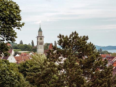 Blick auf Überlingen am Bodensee, Baden-Württemberg