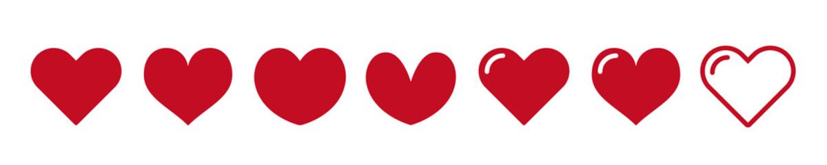 Fototapeta Heart icon. Favorite icon. love, Vector illustration. obraz