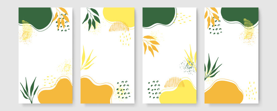 Collage contemporary floral seamless pattern. Modern exotic jungle fruits and plants illustration in vector. Orange floral bloom vector, hand-drawn beautiful illustration pattern with jungle leaves