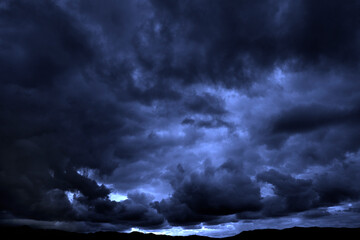 Fototapeta Dark Stormy Rain Storm Clouds obraz