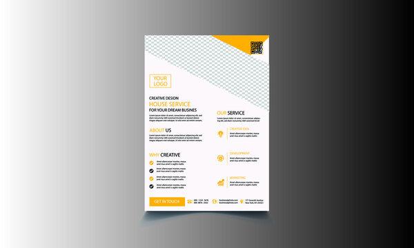 Corporate business flyer template design vector.