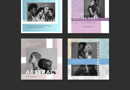 Creative Social Media Layouts with Texture