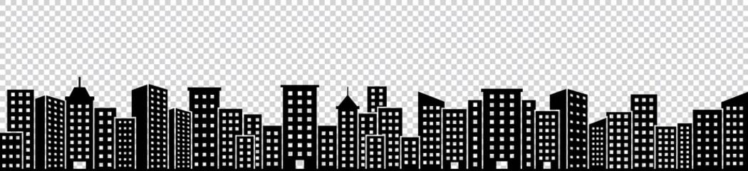 Obraz silhouette of town, skyscraper, Architecture buildings, Vector illustration - fototapety do salonu
