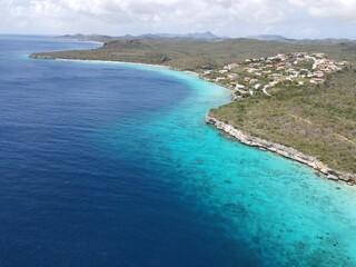 Plaża Kokomo na wyspie Curaçao - widok z drona