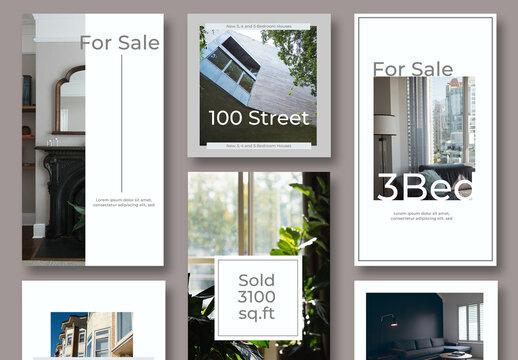 Minimal Real Estate Social Set