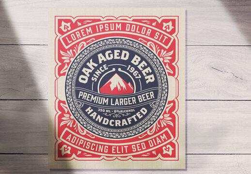 Vintage-Style Beer Label Layout