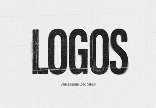 Vintage Blur Logo Design Effect