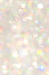 Texture of silver bokeh surface, luxury background