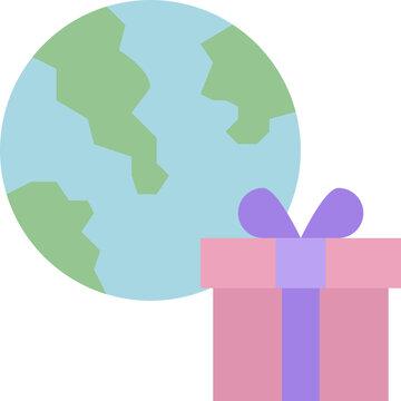 worldwide shipping flat icon