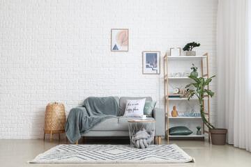 Obraz Interior of stylish living room - fototapety do salonu