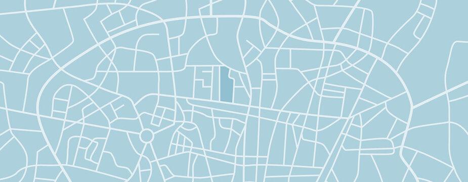 A generic city map illustration