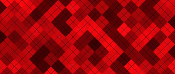 Obraz Red squares geometric background - fototapety do salonu