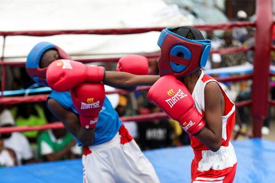 Youth boxing tournament in Iyana-ipaja, Lagos