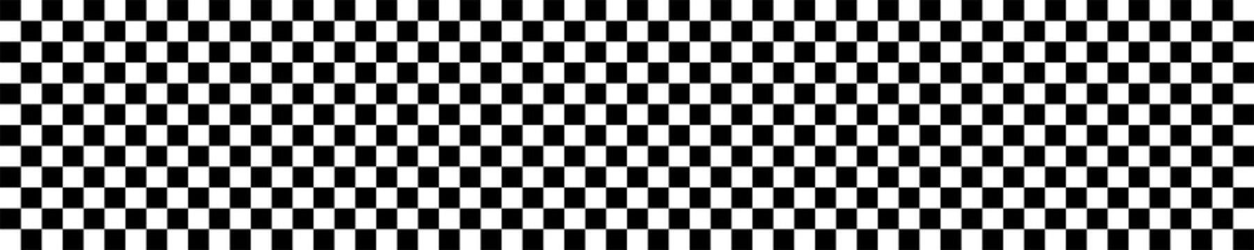 Banner: Karomuster schwarz weiß