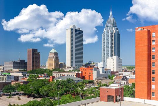 Mobile, Alabama, USA Downtown Skyline