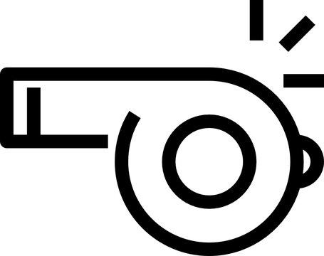 whistle outline icon