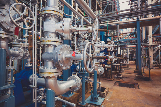 Pipe line oil and gas valves at gas plant pressure safety valve selective