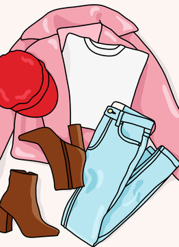 Outfit clothing items