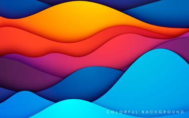 Obraz Colorful fluid background. Dynamic textured geometric element. Modern gradient light vector illustration. - fototapety do salonu