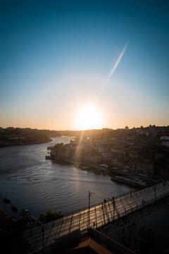 Sunset Porto Portugal Bridge Ponte Luis I