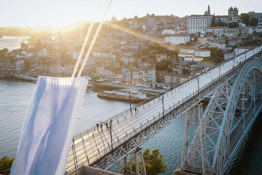 Covid19 Corona in Porto Portugal Mask Covid Portugal