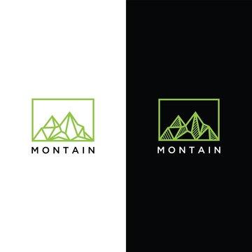 montain logo vector design templat