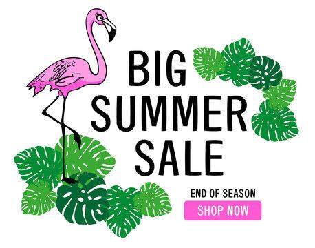 Big Summer Sale Banner -Vector-Illustration