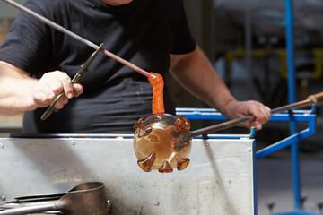 Obraz produkcja szkła - fototapety do salonu