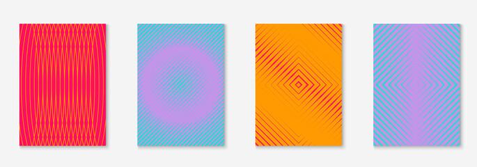 Fototapeta Design magazine cover as template with line geometric element. obraz