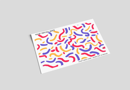 Mock Up of a Postcard