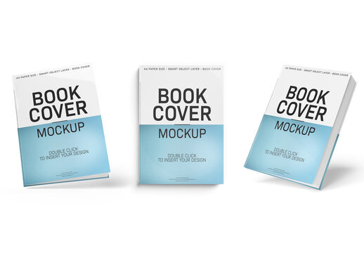 Book Cover Mockup Set Isolated on White