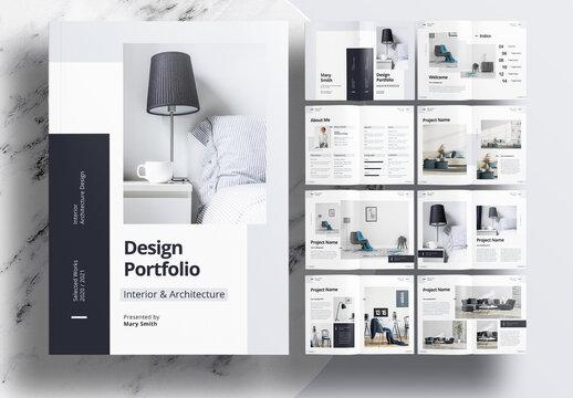 Modern Interior Portfolio Layout