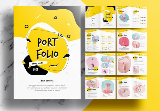 Yellow Portfolio Layout