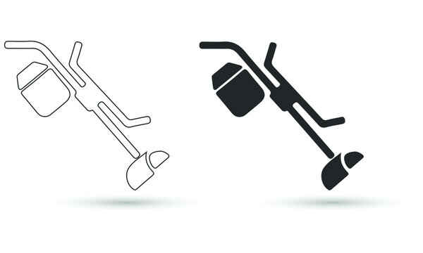 Grass trimmer icon. grass trimmer vector icon for web design isolated on white background.
