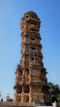 a tower at chittorgarh