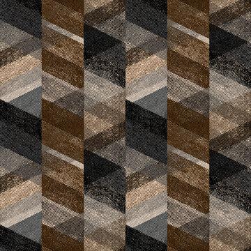 Seamless textured zig-zag pattern, gray-brown background.
