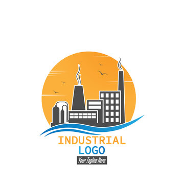 Industrial logo. A simple vector icon for websites and web applications, a logo, an emblem and a label