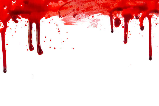blood or paint splatters isolated on white background.graphic resources.