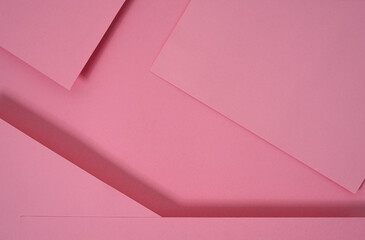 abstract pop up paper background in pink. abstract arrangements build a geometric texture for wallpaper, posters, flyers, etc.