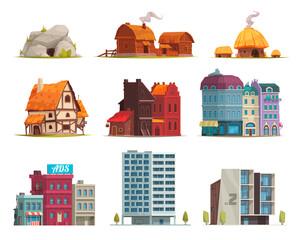 Fototapeta Architectural Housing Evolution Set obraz