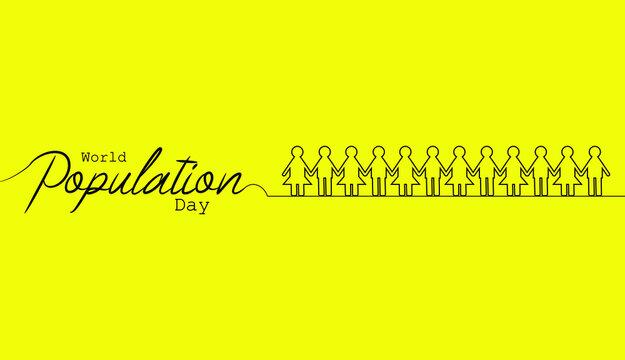 World Population day vector illustration.